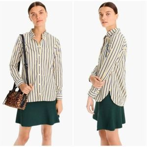J.Crew Classic Fit Button Down Striped Shirt NWT